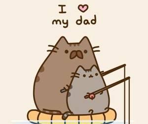 cat, dad, and pusheen image