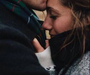 couple, forehead, and kiss image