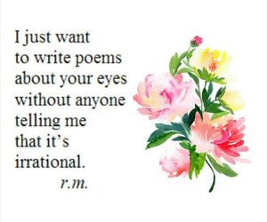 art, flowers, and poem image