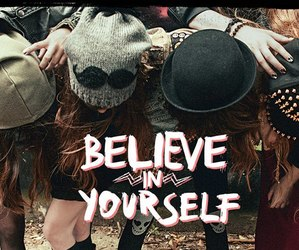 girl, believe, and friends image