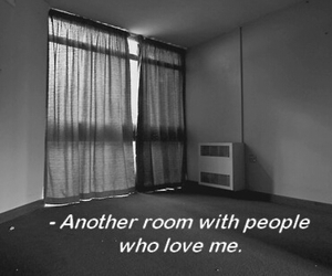 room, sad, and quote image