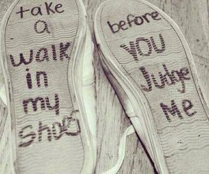 shoes, judge, and quotes image