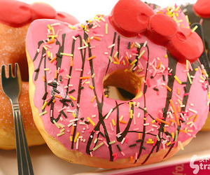 hello kitty, donuts, and food image