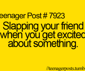 friends, teenager post, and slap image