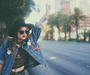 girl, hipster, and hat image