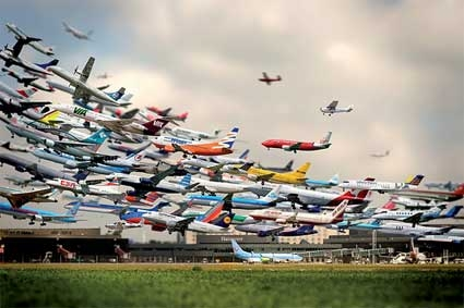 plane, airplane, and airport image