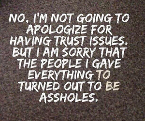 asshole, quote, and trust image