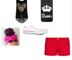 converse, Polyvore, and girly thing image