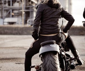 girls, motorcycle, and motos image