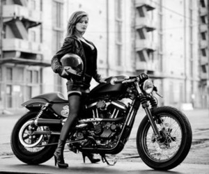 fashion, girls, and motorcycle image