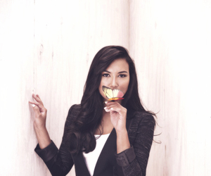 naya rivera, glee, and butterfly image