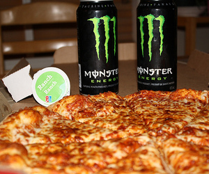 pizza, food, and monster image