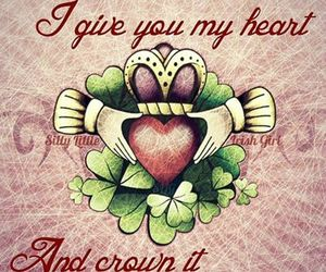 claddagh ring, quotes, and heart image