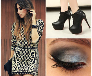 dress, shoes, and vestido image