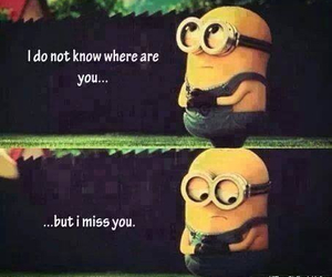 aww, minions, and miss you image