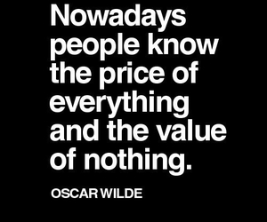 quote, oscar wilde, and value image