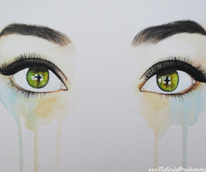 drawing, eyes, and malinda prud'homme image