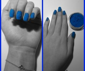 black and white, blue, and νυχια image