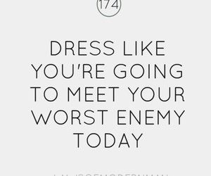 quote, dress, and enemy image