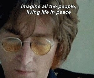 imagine, john lennon, and peace image