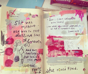 diary, journal, and pink image