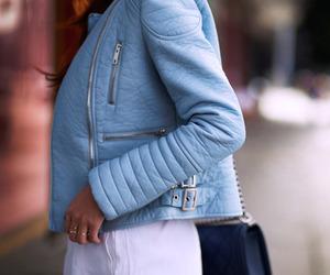 blue, jacket, and style image