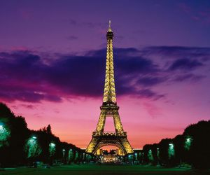 eiffel tower, paris, and photography image
