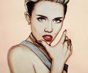 drawing, fan art, and miley cyrus image