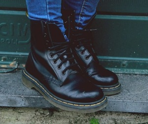fashion, boots, and grunge image