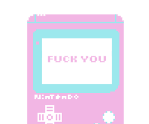 90s, pixel, and f*ck you image
