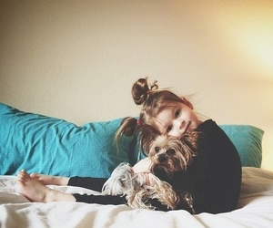 baby, best friend, and dog image