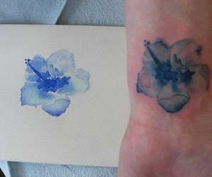 inked, tattoo, and color tattoo image