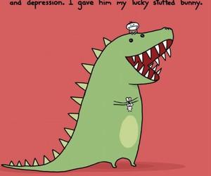 cute, t-rex, and dinosaur image