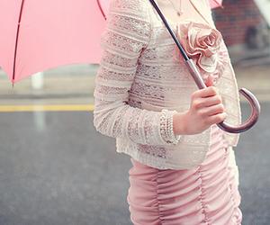 pink, fashion, and umbrella image