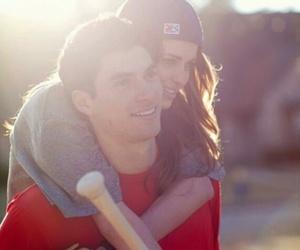 couple, love, and baseball image