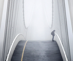 bridge, fog, and grunge image