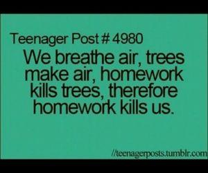 funny, school, and homework image