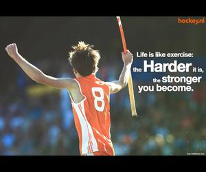 exercise, harder, and hockey image