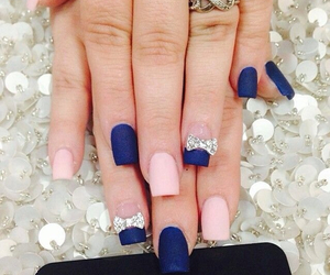 nails, blue, and pink image