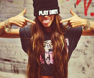 girl, swag, and play dirty image