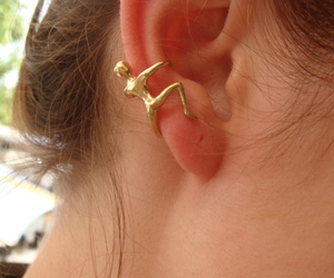 earrings, cool, and ear image