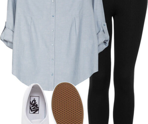 outfit, casual, and vans image