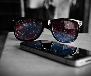galaxy, iphone, and glasses image