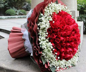 flowers, roses, and هدية image