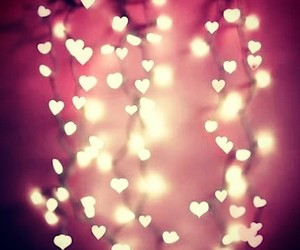 light, love, and hearts image