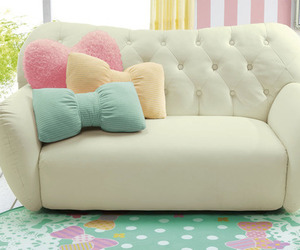 sofa, pastel, and home image