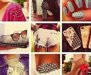 fashion, spikes, and heels image