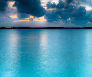 blue, ocean, and sky image
