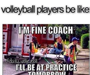 practice and volleyball image
