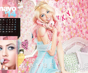 ad, blonde, and calender image